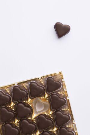 Still Life of Heart-Shaped Chocolates