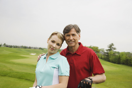 30 years old man: Father and Daughter Golfing