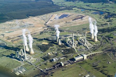 environmental issues: Brown Coal Power Station, Aerial, Australia