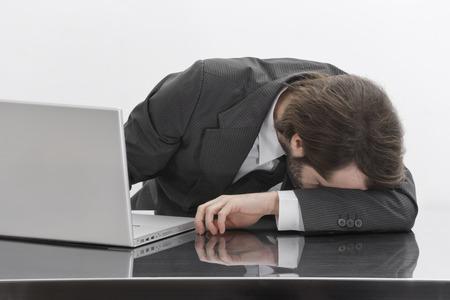 Businessman Asleep on the Job