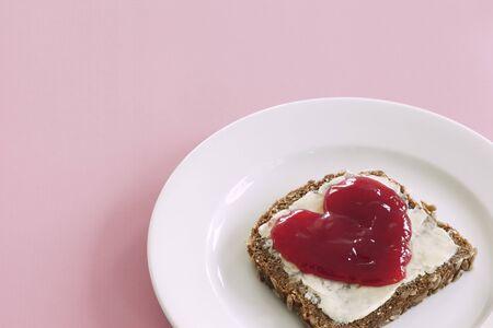 multi grain sandwich: Still Life of Bread with Jam
