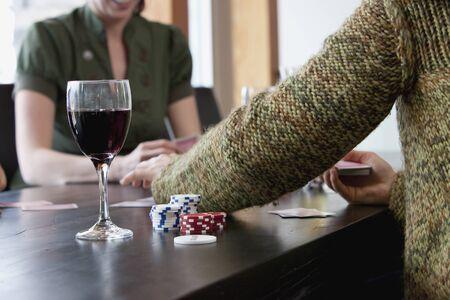 adversaries: Friends Playing Poker