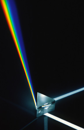 Light Refracting in Prism