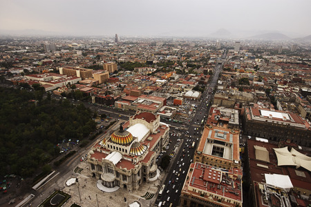 environmental issues: Aerial View of Downtown Mexico City, Mexico