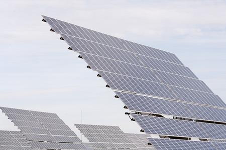 environmental issues: Solar Panels, Monegros Desert, Aragon, Spain