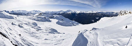 run down: Ski Run, Whistler Mountain, Whistler, British Columbia, Canada LANG_EVOIMAGES