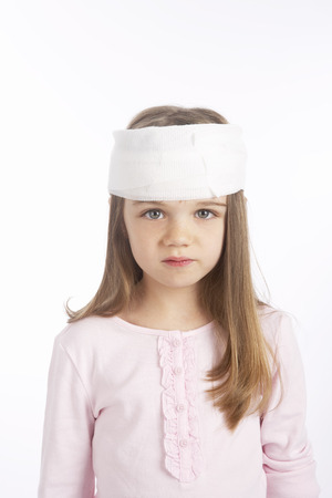 Girl With a Bandage on Her Head LANG_EVOIMAGES
