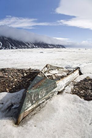 run down: Abandoned Rowboat, Craig Harbour, Ellesmere Island, Nunavut, Canada LANG_EVOIMAGES