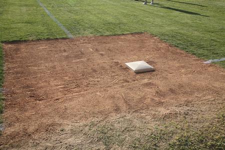 First Base on Baseball Diamond LANG_EVOIMAGES