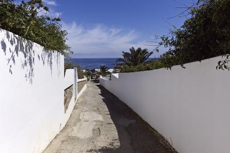 eolie: Pathway, Panarea, Aeolian Islands, Sicily, Italy
