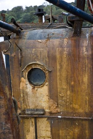 without windows: Exterior of Rusty Boat