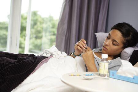 ah1n1: Teenage Girl Sick in Bed