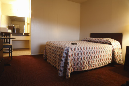 bedspread: Interior of Motel Room, Alpine, Texas, USA