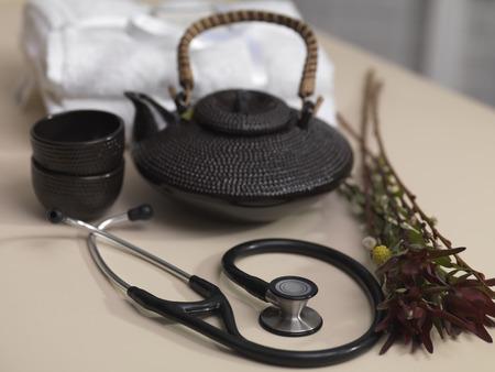 Teapot, Wild Plants and Stethoscope