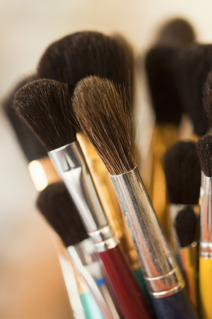 equipping: Paint Brushes