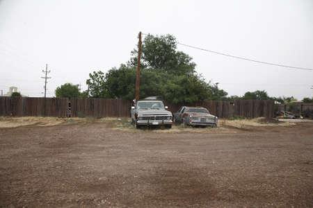down beat: Run Down Cars, Alpine, Texas, USA