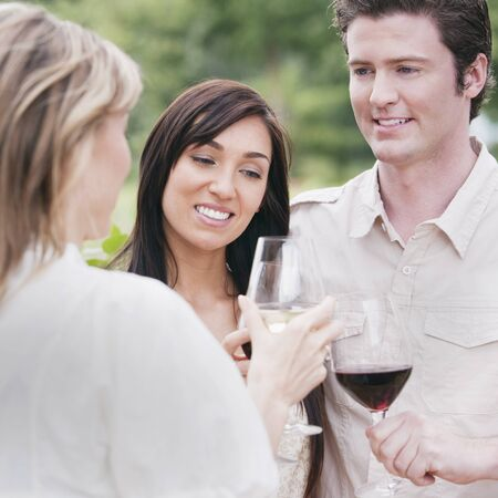 daughter in law: Group of People Outdoors Drinking Wine
