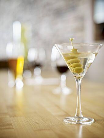 Still Life of Martini at Wine Bar, Toronto, Ontario, Canada