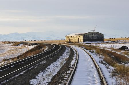 dilapidation: Railway Tracks, Pincher Creek, Alberta, Canada LANG_EVOIMAGES
