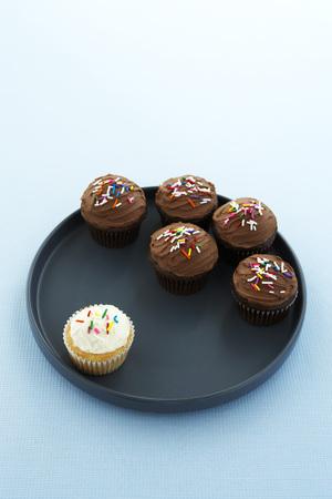 societal: Vanilla Cupcake Seperated from Chocolate Cupcakes