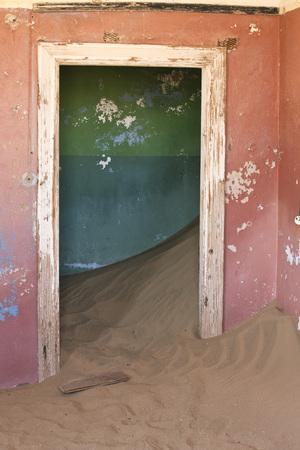 Interior of Abandoned Building, Kolmanskop Ghost Town, Namibia, Africa