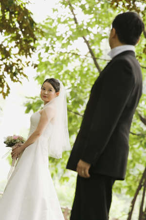tenderly: Newlywed Couple in Park
