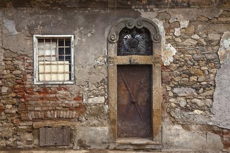 run down: Doorway, Zagreb, Croatia