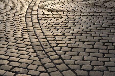 Cobbled Street in the Evening, Dresden, Saxony, Germany LANG_EVOIMAGES