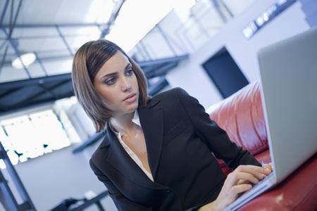Businesswoman Using Laptop Computer LANG_EVOIMAGES
