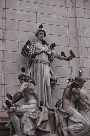 female likeness: Maine Monument at Merchants Gate, Central Park, Manhattan, New York City, New York, USA