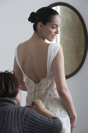 tailored: Woman Having Wedding Dress Fitted