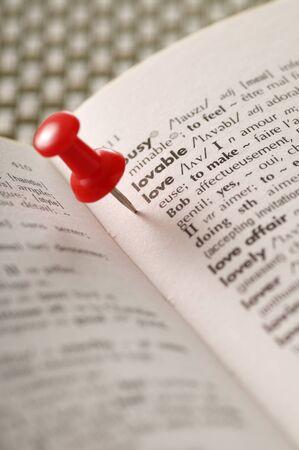 Thumb Tack and Dictionary