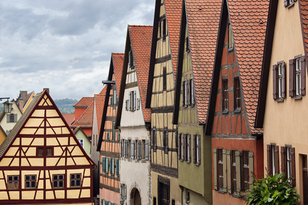 bayern old town: Houses, Romantic Road, Dinkelsbuhl, Ansbach District, Bavaria, Germany LANG_EVOIMAGES