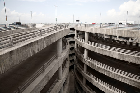Highway and Ramp to Public Parking Garage, Houston, Texas, USA