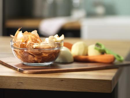 Vegetable Peels in Bowl