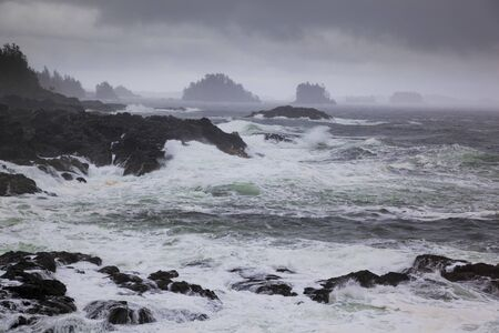 stormy waters: Wild Pacific Trail, Ucluelet, Vancouver Island, British Columbia, Canada