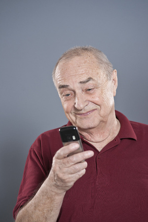 disapprove: Man Using Cellular Telephone