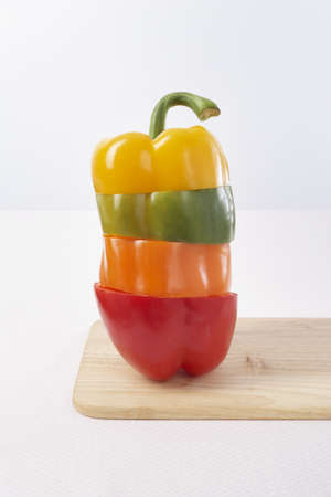 yellowish green: Stacked Pepper Slices LANG_EVOIMAGES