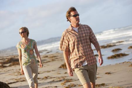 Couple Walking, San Diego, San Diego County, California, USA