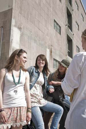 loitering: Young Women Outdoors