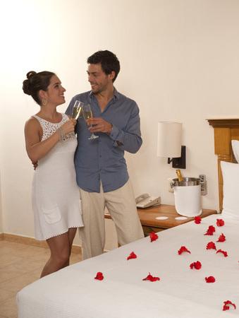 Couple, Reef Playacar Resort and Spa Hotel, Playa del Carmen, Quintana Roo, Yucatan Peninsula, Mexico