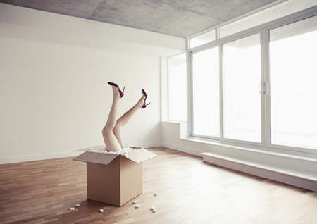real estate sold: Mannequin Legs Sticking-Out of Box, Toronto, Ontario, Canada