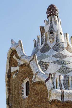 Gaudi Building, Parc Guell, Barcelona, Spain LANG_EVOIMAGES