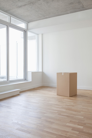 real estate sold: Empty Room and Box, Toronto, Ontario, Canada LANG_EVOIMAGES