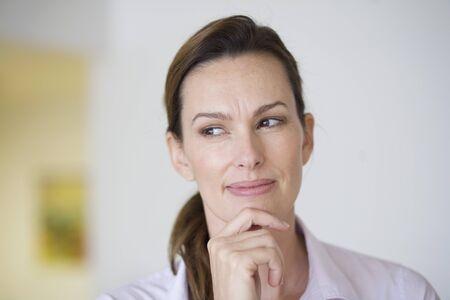 skepticism: Portrait of Woman, Miami, Dade County, Florida, USA