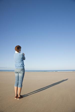 oceanic: Woman On Beach, Camaret-sur-Mer, Finistere, Bretagne, France