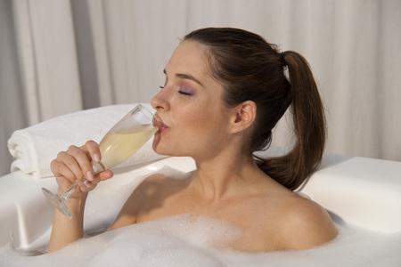 rejuvenated: Woman at Spa, Reef Playacar Resort and Spa Hotel, Playa del Carmen, Quintana Roo, Yucatan Peninsula, Mexico
