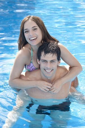 traje mexicano: Couple, Reef Playacar Resort and Spa Hotel, Playa del Carmen, Quintana Roo, Yucatan Peninsula, Mexico