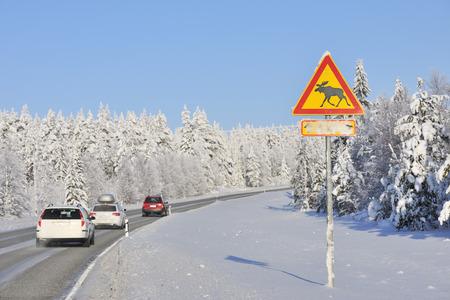 Road, Kuusamo, Northern Ostrobothnia, Oulu Province, Finland