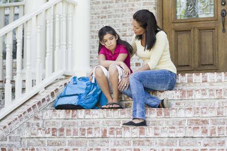 flip flops: Mother and Daughter on Steps